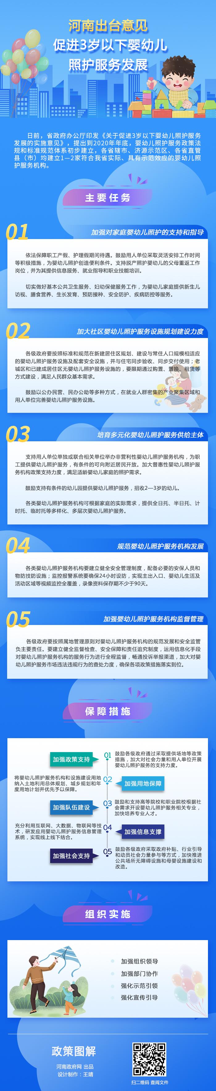 图解:河南出台意见 促进3岁以下婴幼儿照护服务发展