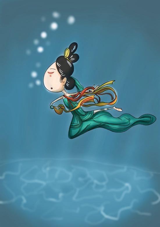 《中国青年报》被水下的洛神惊艳,你可知道她的前世今生?