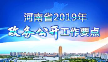 圖解:河南省2019年政務公開工作要點