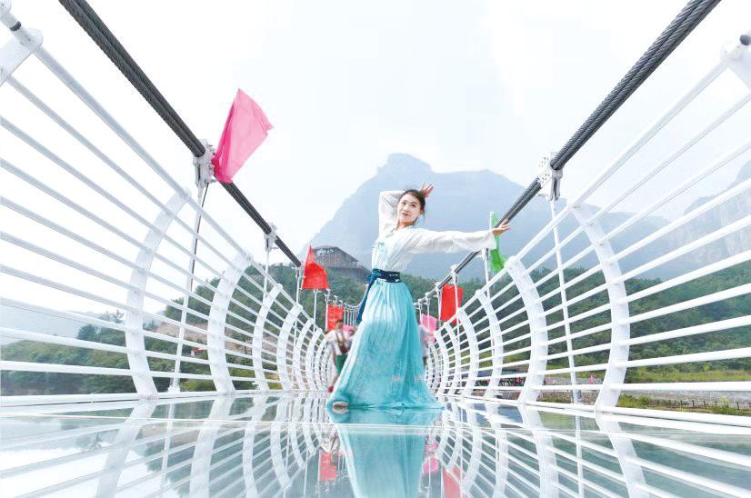 """太行大峡谷景区再添""""尖叫""""项目——高空玻璃天桥"""