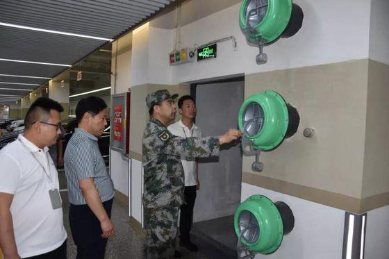 商丘军分区司令员赵伯桥检查指导人防工作