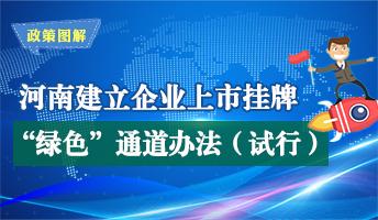 """图解:河南省为企业上市挂牌提供""""绿色""""通道服务"""