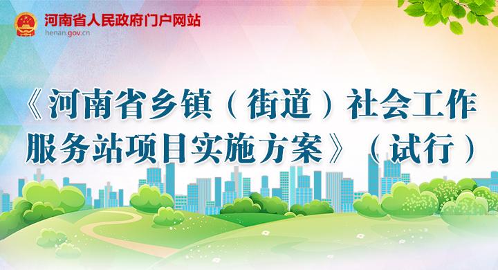 图解:《河南省乡镇(街道)社会工作服务站项目实施方案》(试行)出台