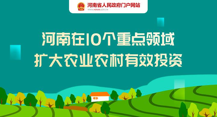 图解:河南在10个重点领域 扩大农业农村有效投资