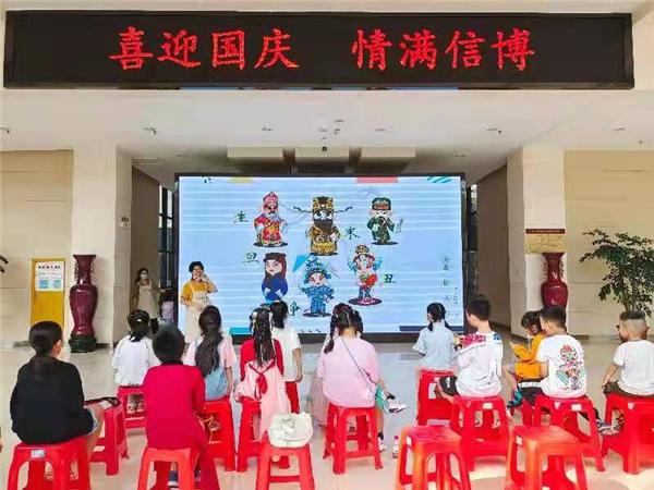 """信阳博物馆举办""""萌娃学国粹 ——'我和我的祖国'主题绘画长卷""""活动"""