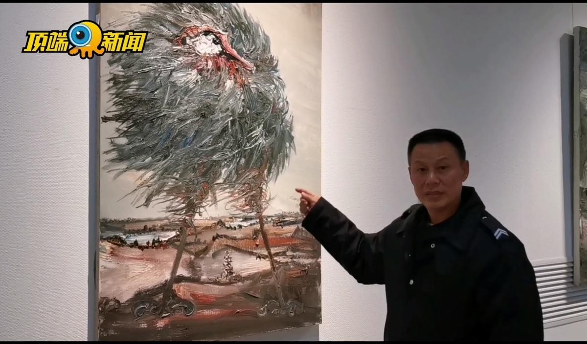 """隐藏在美术馆的""""扫地僧""""?保安老王讲画,馆长听了很震惊"""