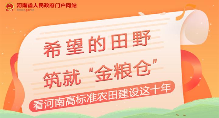 图解:看河南高标准农田建设这十年