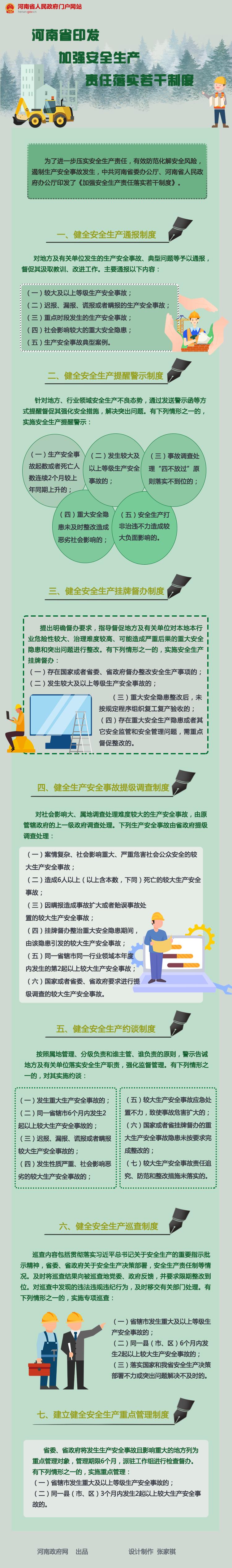 图解:河南省印发加强安全生产责任落实若干制度