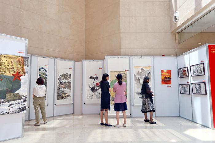 同庆百年华诞 共建美好家园 全省住建系统庆祝中国共产党成立100周年 书画摄影优秀设计作品展隆重开幕