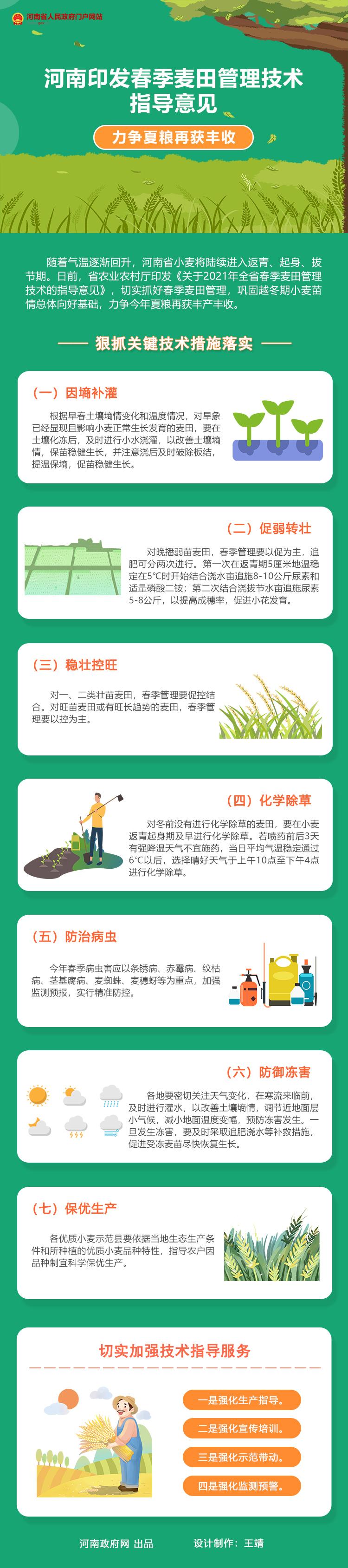 图解:河南印发春季麦田管理技术指导意见