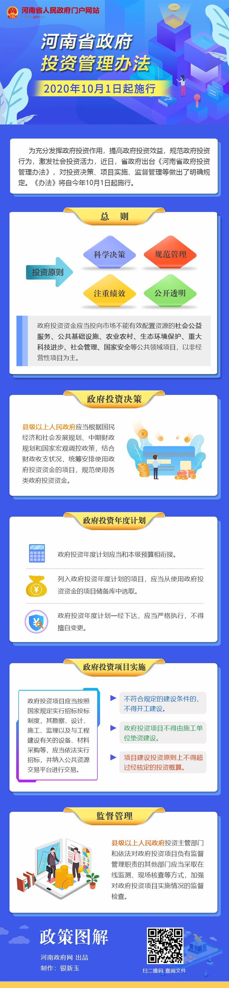 图解:《河南省政府投资管理办法》10月1日起施行