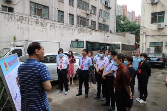 郑州市管城区人防办接受区人大常委会人防防汛督导视察