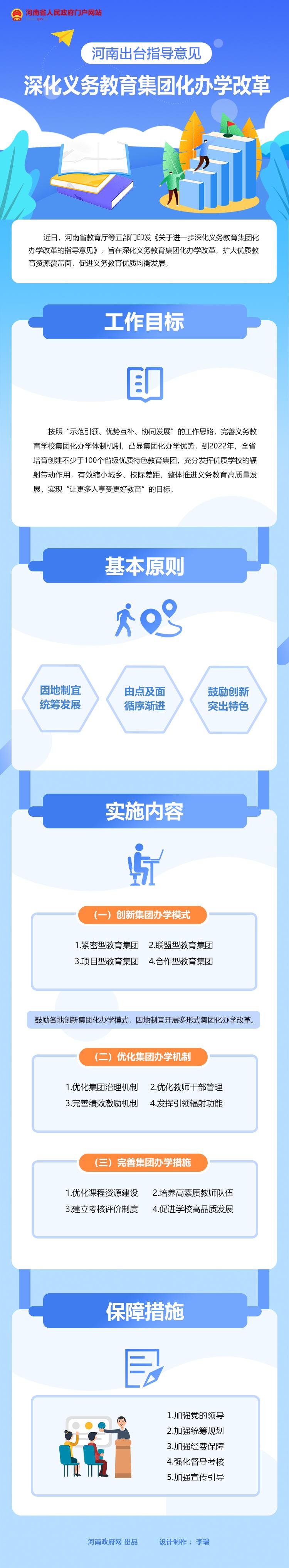 图解:河南出台指导意见 深化义务教育集团化办学改革