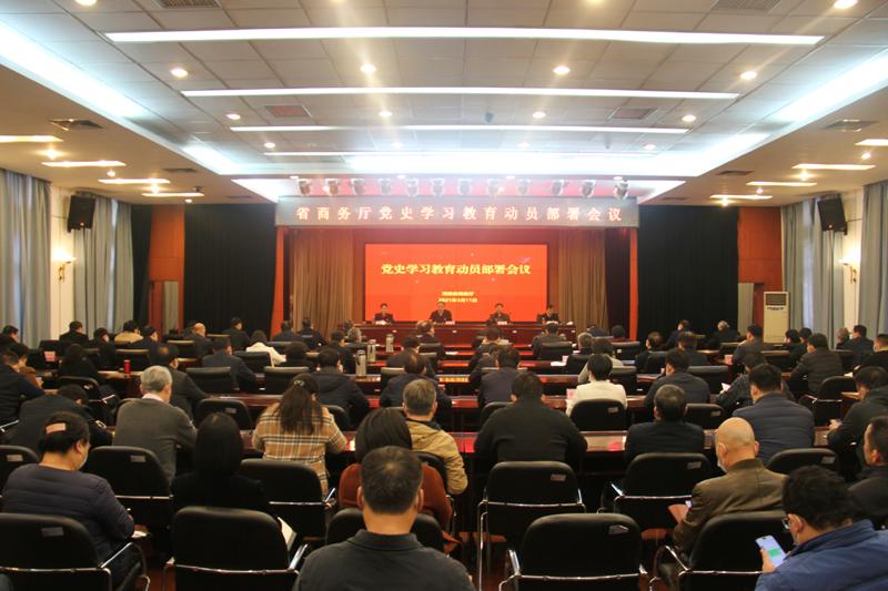 省商务厅召开党史学习教育动员部署会议