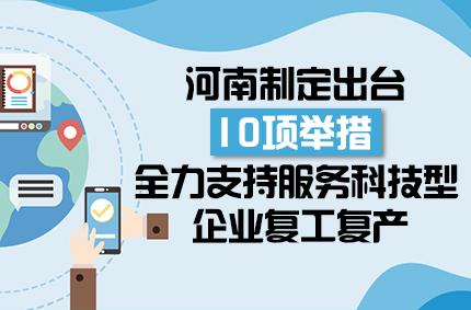 圖解:河南出臺10項舉措 全力支持服務科技型企業復工復產