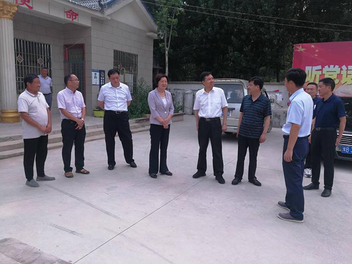 孟庆勇副厅长带队赴对口帮扶的开封市西姜寨乡赵店村进行慰问和调研
