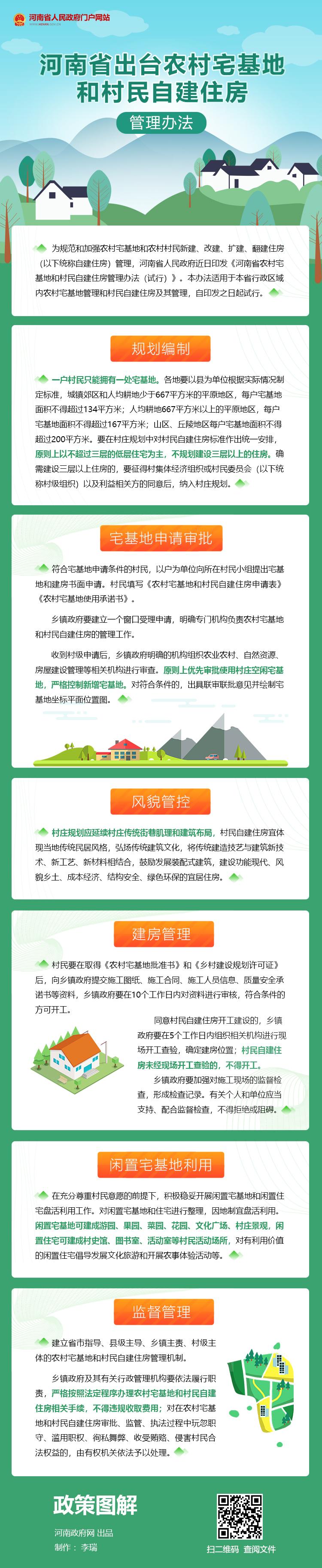 图解:河南省出台农村宅基地和村民自建住房管理办法