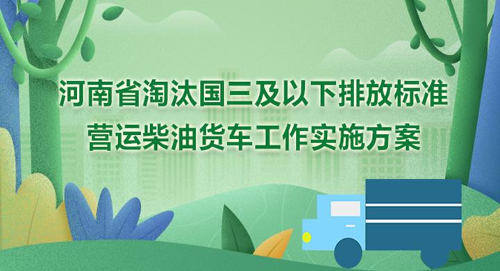 图解:河南省淘汰国三及以下排放标准营运柴油货车工作实施方案