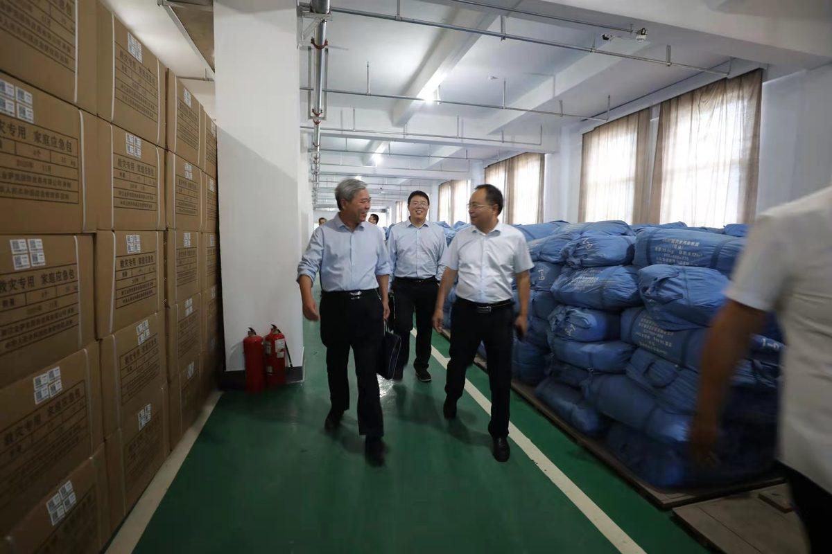 驻委纪检监察组组长、委党组成员李振明到省战略和应急物资储备保障中心调研