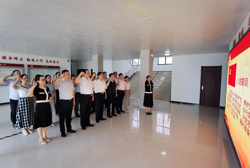 省教育厅职成教处党支部与河南应用技术职业学院教务党支部开展支部结对共建活动