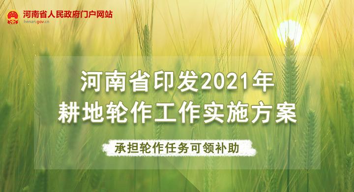 图解:河南印发2021年耕地轮作工作实施方案