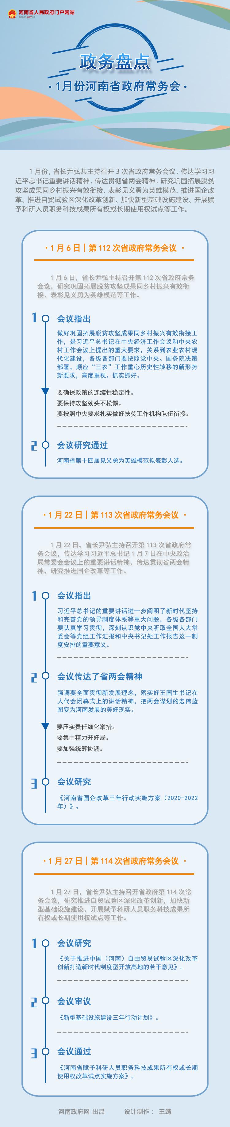 政務盤點|2021年1月份河南省政府常務會