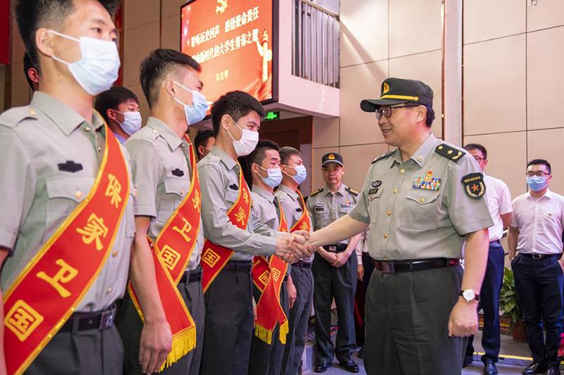 省军区少将司令员陈兆明到河南工程学院调研指导党史学习教育