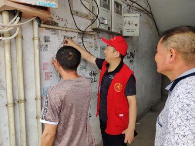 信阳市新县人防办党支部入社区助力文明城市建设