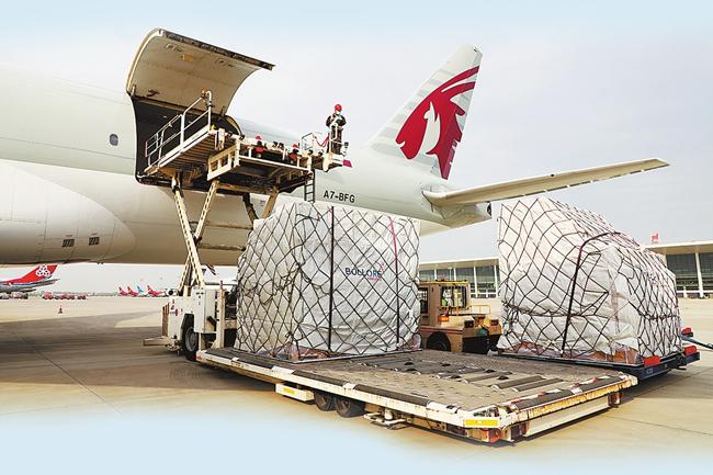 卡塔爾航空鄭州至多哈貨運航線首航 鄭州機場4月份貨郵吞吐量增速全國第一