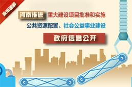 图解:河南推进重大建设项目批准实施等领域政府信息公开