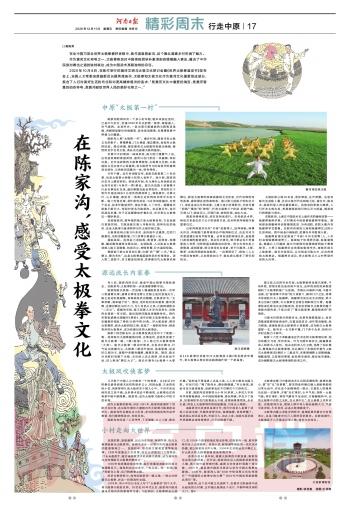 《河南日报》在陈家沟,感受太极拳文化