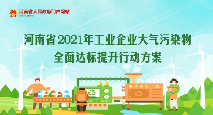 图解:河南省2021年工业企业大气污染物全面达标提升行动方案