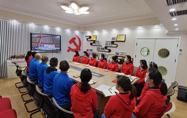 省直二幼组织收看纪念辛亥革命110周年大会