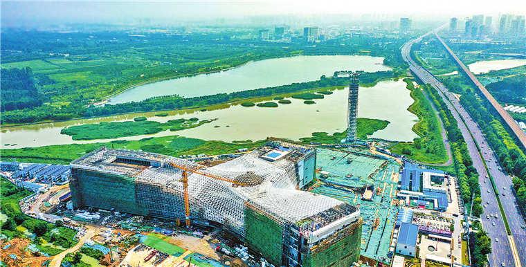 省科技馆新馆主体工程完工