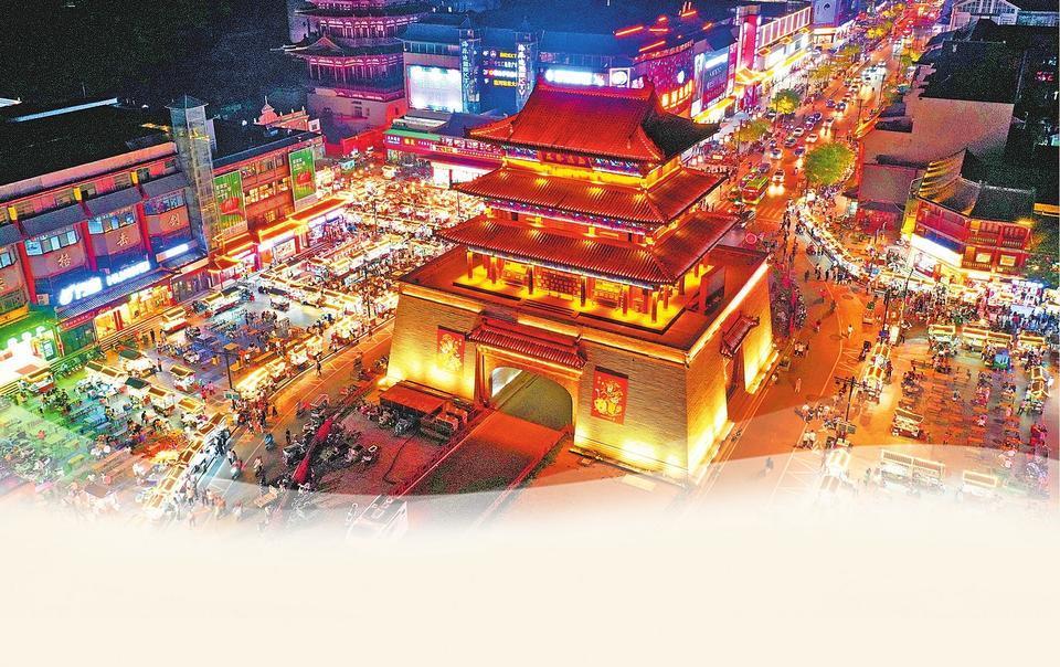 Gulou Night Market in Kaifeng