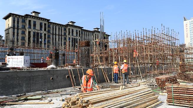 吾悦广场项目施工现场 安阳市住建局供图