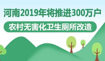 图解:2019年河南将推进300万户农村无害化卫生厕所改造