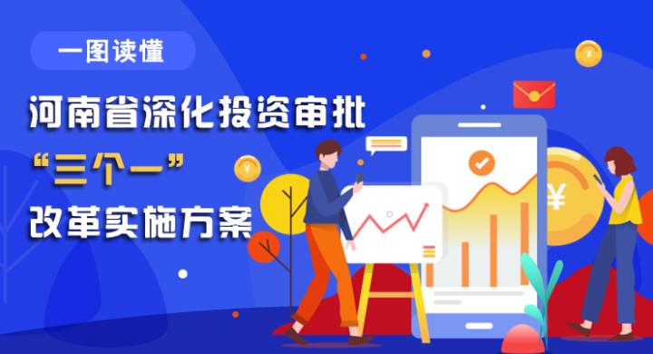 """图解:河南省深化投资审批""""三个一""""改革实施方案"""