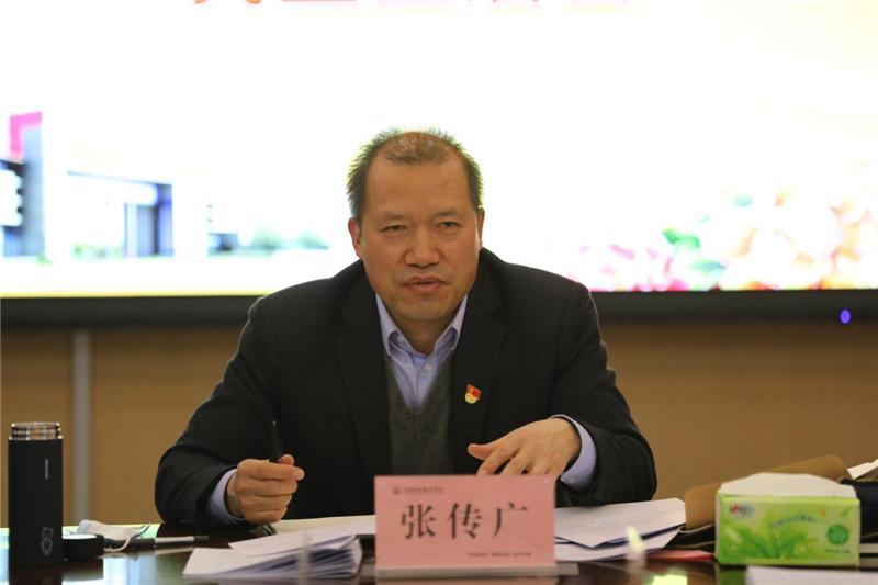省教育厅副厅长张传广参加河南经贸职业学院校级党员领导干部2020年度民主生活会