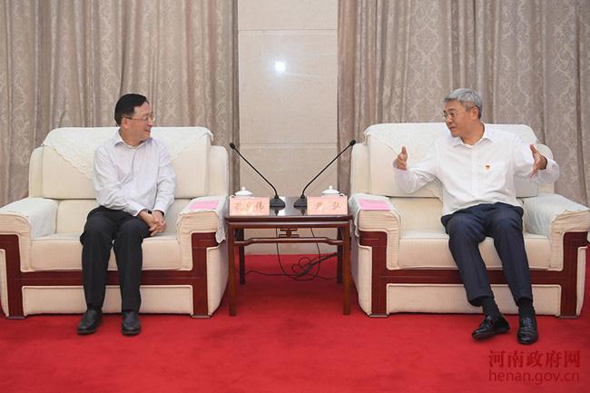 尹弘与中国太保集团董事长孔庆伟会谈并出席签约仪式
