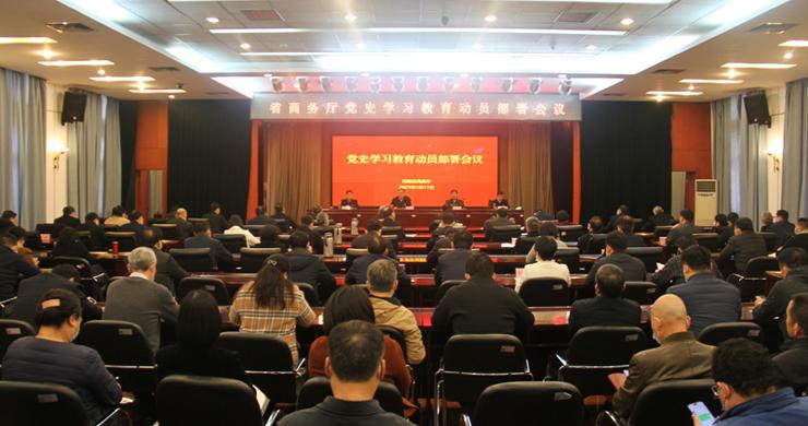 龙8官网正版召开党史学习教育动员部署会议
