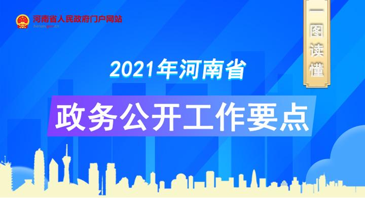 一图读懂丨2021年河南省政务公开工作要点