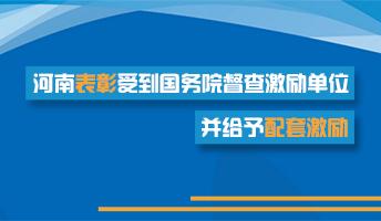 图解:河南表彰受到国务院督查激励单位并给予配套激励