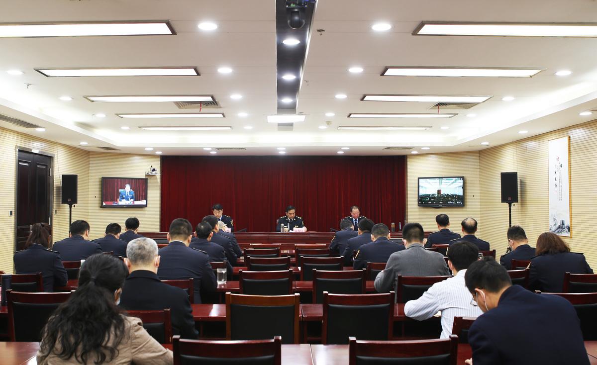 全省劳动保障监察工作电视电话会议召开