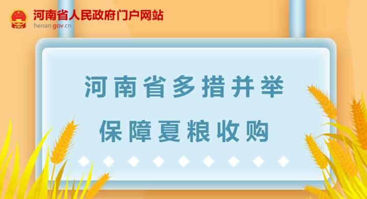 图解:河南省多措并举保障夏粮收购