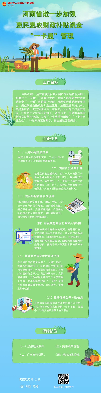 """图解:河南省出台文件 进一步加强惠民惠农财政补贴资金""""一卡通""""管理"""