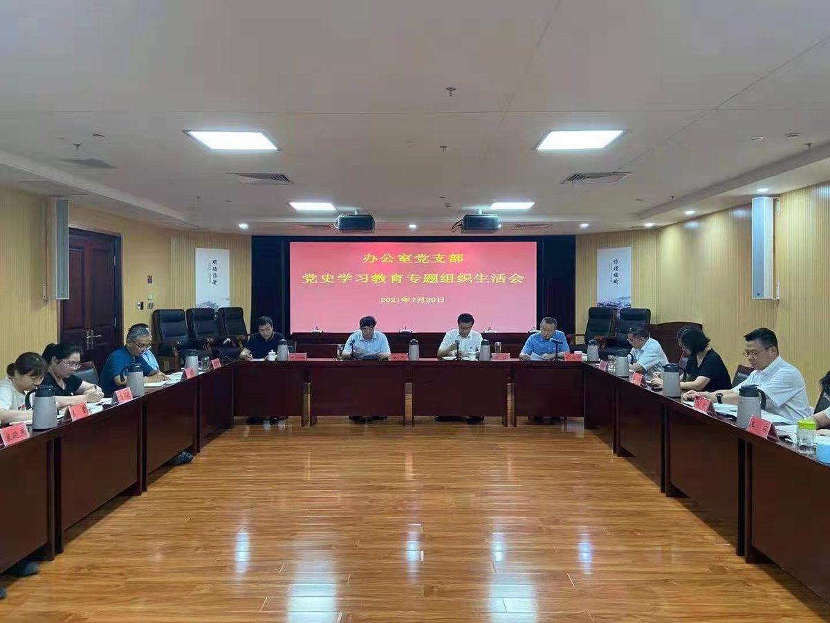 省民族宗教委办公室支部召开党史学习教育专题组织生活会