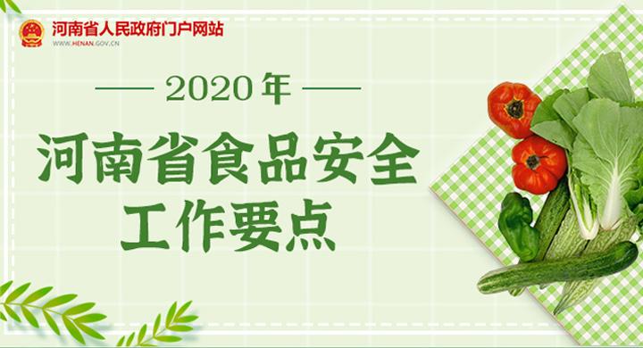 图解:2020年河南省食品安全工作要点