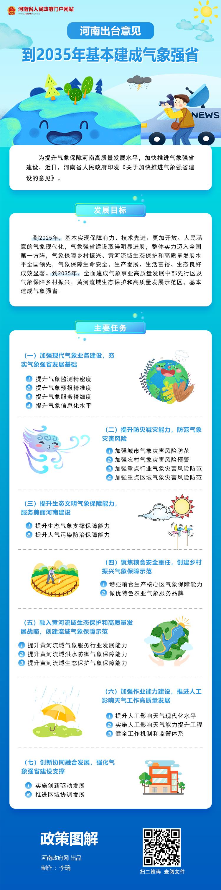 图解:河南出台意见 到2035年基本建成气象强省