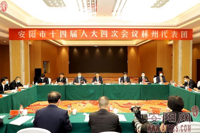 李公乐参加林州市代表团审议